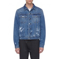 Acne Studios 'Tent' paint splatter denim jacket LYJYLIO Men Jackets 211166213