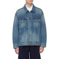 FACETASM Rib knit stripe denim jacket FZTNLAN Men Jackets 211158234