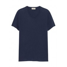 AMERICAN VINTAGE Short-sleeved cotton T-shirt Blue NAVY CHINE Men T-shirts SIODCBH MDEC2CH18-DECATUR-NAVYCH-NAVY CHINE