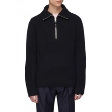 ACNE STUDIOS Fisherman半开襟立领罗纹针织衫 YWAKXQP Men Knitwears & Sweatshirts