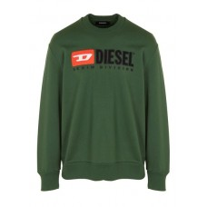 DIESEL Regular-fit round-neck cotton sweatshirt with screen print Green 5HS-COLOR Men Knitwears & Sweatshirts HACOGHZ 00SHEP-0CATK-5HS-5HS-COLOR